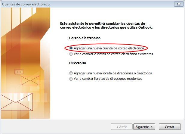 Agregar una cuenta de correo electrónico